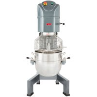 Avantco MX60 60 Qt. Gear Driven Commercial Planetary Floor Mixer with Stainless Steel Bowl Guard
