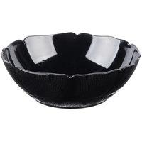 Carlisle 690403 Petal Mist 18 oz. Black Polycarbonate Bowl