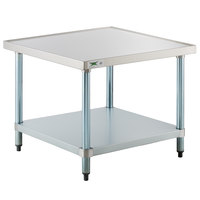 Regency 30 inch x 30 inch 18-Gauge Stainless Steel Mixer Table with Galvanized Legs and Undershelf