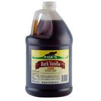 Fox's Dark Vanilla Syrup - (4) 1 Gallon Containers / Case