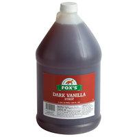 Fox's 1 Gallon Dark Vanilla Syrup - 4/Case