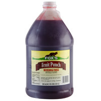 Fox's 1 Gallon Fruit Punch Beverage Base Syrup - 4/Case