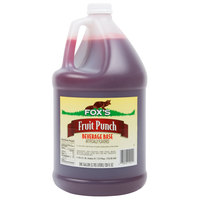 Fox's 1 Gallon Fruit Punch Syrup - 4/Case