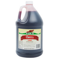 Fox's 1 Gallon Cherry Syrup - 4/Case