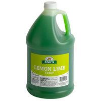 Fox's 1 Gallon Lemon Lime Syrup - 4/Case