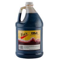 Fox's 1 Gallon Cola Syrup - 4/Case