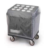 Cambro 14301 Vinyl Tray and Silver Cart Cover for TC1418