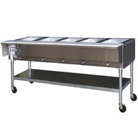 Eagle Group SPDHT5 Portable Hot Food Table Five Pan - All Stainless Steel - Open Well, 240V