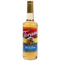 Torani 750 mL Creme de Banana Flavoring / Fruit Syrup