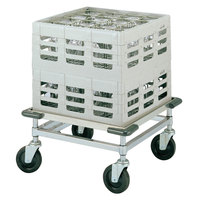 Metro CB2121C Heavy Duty Aluminum Glass Rack Dolly with Corner Bumpers, No Handle