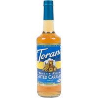 Torani 750 mL Sugar Free Salted Caramel Flavoring Syrup