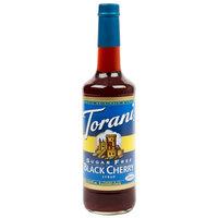 Torani 750 mL Sugar Free Black Cherry Flavoring / Fruit Syrup