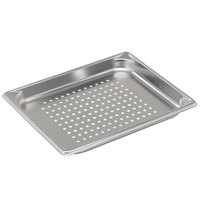 Vollrath 30213 Super Pan V 1/2 Size Anti-Jam Stainless Steel Perforated Steam Table / Hotel Tray - 1 1/2 inch Deep