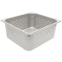 Vollrath 30163 Super Pan V® 2/3 Size 6 inch Deep Anti-Jam Perforated Stainless Steel Steam Table / Hotel Pan - 22 Gauge