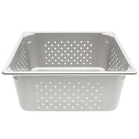 Vollrath 30163 Super Pan V® 2/3 Size Anti-Jam Stainless Steel Perforated Steam Table / Hotel Pan - 6 inch Deep
