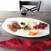 Vollrath 46291 22 inch x 13 3/4 inch White Melamine Platter