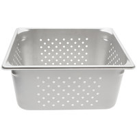 Vollrath 30263 Super Pan V® 1/2 Size Anti-Jam Stainless Steel Perforated Steam Table / Hotel Pan - 6 inch Deep