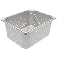 Vollrath 30263 Super Pan V® 1/2 Size 6 inch Deep Anti-Jam Perforated Stainless Steel Steam Table / Hotel Pan - 22 Gauge