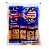 Great Western Premium America All-In-One Popcorn Kit for 6 oz. Popper - 36/Case
