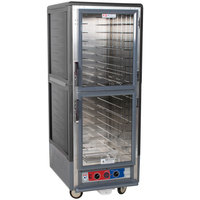Metro C539-MDC-4-GY C5 3 Series Heated Holding and Proofing Cabinet with Clear Dutch Doors - Gray