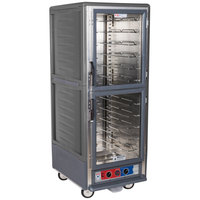 Metro C539-MDC-U-GY C5 3 Series Heated Holding and Proofing Cabinet with Clear Dutch Doors - Gray
