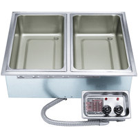 APW Wyott HFW-2T Insulated Two Pan Drop In Hot Food Well with Thermostatic Controls