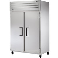 True STM2F-2S 52 inch Two Section Solid Door Reach in Freezer