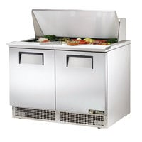 True TFP-48-18M 48 inch 2 Door Mega Top Refrigerated Sandwich Prep Table