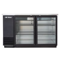 True TBB-2G-LD 59 inch Glass Door Back Bar Refrigerator with LED Lighting