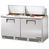 True TFP-64-24M 64 inch 2 Door Mega Top Refrigerated Sandwich Prep Table