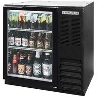 Beverage-Air BB36G-1-B-LED-WINE 36 inch Black Glass Door Back Bar Wine Refrigerator