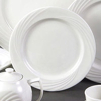 CAC GAD-7 Garden State 7 1/4 inch Bone White Round Porcelain Plate - 36/Case