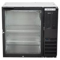 Beverage-Air BB36HC-1-G-B 36 inch Black Glass Door Back Bar Refrigerator