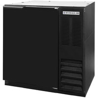 Beverage-Air BB36-1-B WINE 36 inch Black Solid Door Back Bar Wine Refrigerator