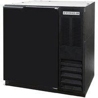Beverage Air BB36-1-B-WINE 36 inch Solid Door Back Bar Wine Refrigerator - Black