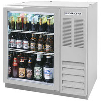 Beverage-Air BB36GF-1-S-LED 36 inch Stainless Steel Glass Door Back Bar Refrigerator