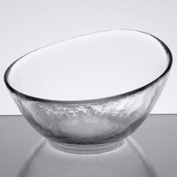 10 Strawberry Street HAG-5BWL 4 oz. Hammered Glass Angled Bowl   - 36/Case