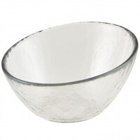10 Strawberry Street HAG-5BWL Hammered Glass 5 inch Angled Bowl - 36 / Case