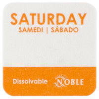 "Noble Products Saturday 1"" Dissolvable Day of the Week Label - 1000/Roll"