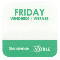 Noble Products Friday 1 inch Dissolvable Day of the Week Dot Label - 1000 / Roll