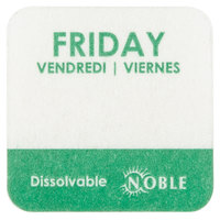 """Noble Products Friday 1"""" Dissolvable Day of the Week Label - 1000/Roll"""