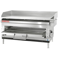 Cecilware HDB2042 Natural Gas 42 inch Combination Griddle and Cheese Melter with Adjustable Rack - 80,000 / 90,000 BTU