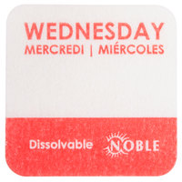 """Noble Products Wednesday 1"""" Dissolvable Day of the Week Label - 1000/Roll"""