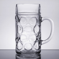 Libbey 12030021 33.875 oz. (1 liter) Oktoberfest Customizable Beer Mug - 6/Case