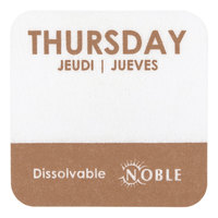 Noble Products Thursday 1 inch Dissolvable Day of the Week Label - 1000/Roll