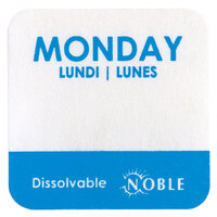Noble Products Monday 1 inch Dissolvable Day of the Week Dot Label - 1000 / Roll