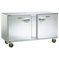 Traulsen ULT72-LR-SB 72 inch Undercounter Freezer with Left and Right Hinged Doors and Stainless Steel Back - 20 Cu. Ft.