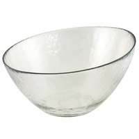 10 Strawberry Street HAG-7BWL Hammered Glass 7 1/4 inch Angled Bowl - 24 / Case