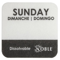 Noble Products Sunday 1 inch Dissolvable Day of the Week Label - 1000/Roll