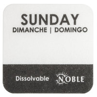 "Noble Products Sunday 1"" Dissolvable Day of the Week Label - 1000/Roll"